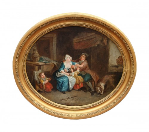 Allegory of the peasant condition - French School of the second half of the 18th century