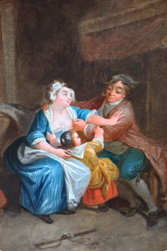 Allegory of the peasant condition - French School of the second half of the 18th century - Paintings & Drawings Style