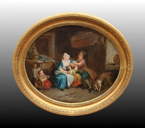 Paintings & Drawings  - Allegory of the peasant condition - French School of the second half of the 18th century