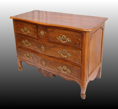 Walnut Commode Stamped Jean-adam Kirschenbach  - Furniture Style Transition
