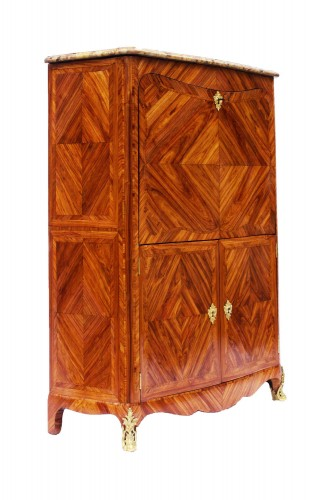French Louis XV secretaire stamped Jean-Charles Saunier