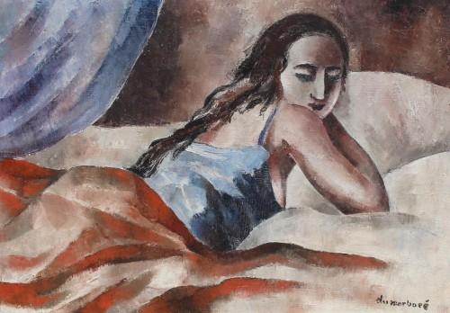 Jean DU MARBORÉ (1896-1933) - Young woman on a bed