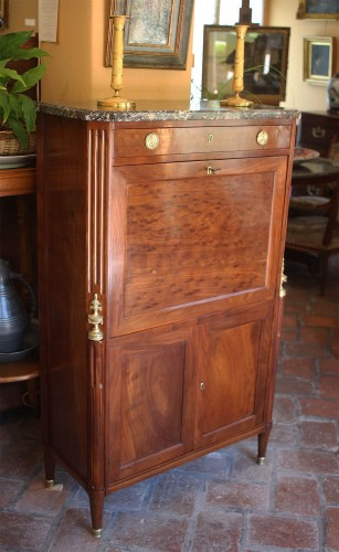 French Louis XVI secretaire Stamped Fidelys Schey -