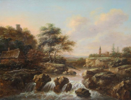 Klaes MOLENAER (c.1630-c.1676) - Characters in a landscape
