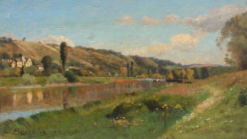 The Marne and Saint Aulde - Louis Alexandre BOUCHE (1838-1911)