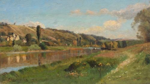 The Marne and Saint Aulde - Louis Alexandre BOUCHE (1838-1911)