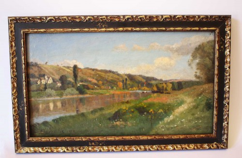 The Marne and Saint Aulde - Louis Alexandre BOUCHE (1838-1911) - Paintings & Drawings Style