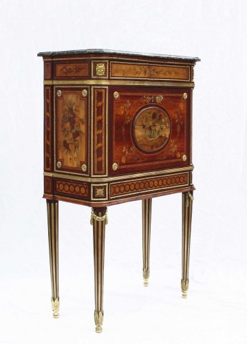 Secretary In Cabinet Louis XVI - Furniture Style Louis XVI
