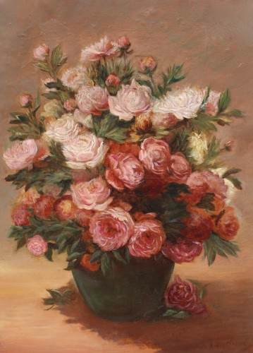 Bouquet of peonies - Achille Théodore CESBRON (1849-1915)