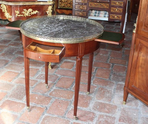 "Table ""Bouillotte, Stamped CASPARD SCHNEIDER   - Furniture Style Louis XVI"