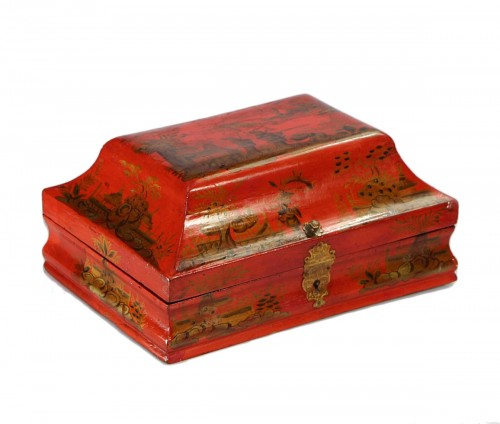 Wig box in lacquered wood18th