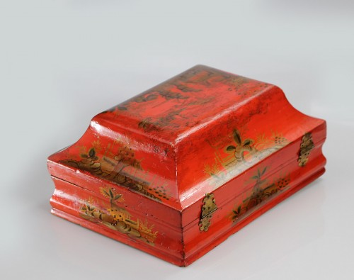 Wig box in lacquered wood18th - Objects of Vertu Style Louis XV
