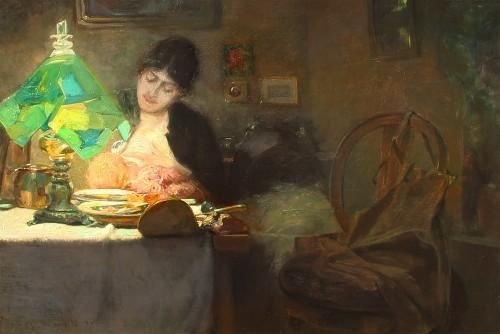 Maternité - Anton MANGOLD (1863-1907)