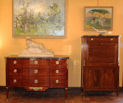 French Louis XVI commode Stamped F.SCHEY  -