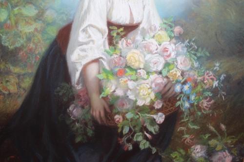 Flora - Hugues MERLE (1823-1881) - Paintings & Drawings Style