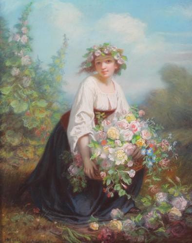 Paintings & Drawings  - Flora - Hugues MERLE (1823-1881)