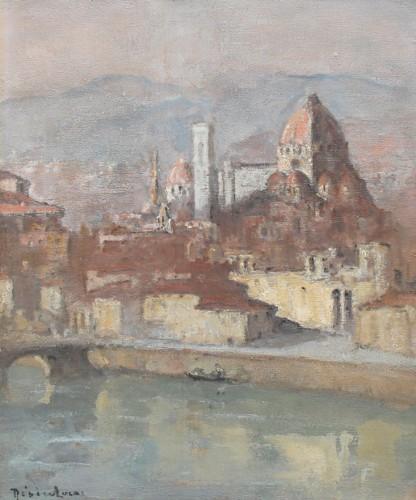 Louis Marie Désiré-Lucas (1869-1949) - View of Santa Maria del Fiore, Florence