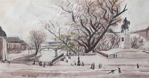 André Dunoyer de Segonzac (1884-1974) - Paris the Pont Neuf