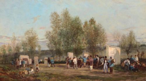 Archery at Villiers-sur-Morin - Amédée Elie SERVIN (1829-1884)