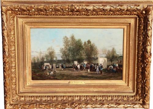 Archery at Villiers-sur-Morin - Amédée Elie SERVIN (1829-1884) - Paintings & Drawings Style