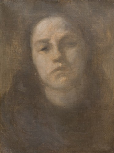 Portrait of a woman - Eugène Carrière (1849-1906)