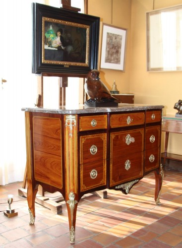 18th century - Transition Period Commode Stampedt N.PETIT