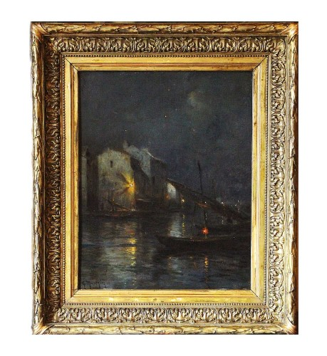 Georges Philibert Charles MARONIEZ (1865-1933) - Martigues at night - Paintings & Drawings Style