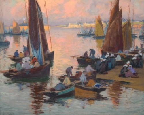 Mathurin Janssaud (1857-1940) - Concarneau