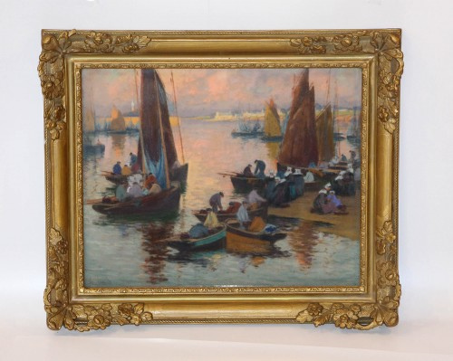 Mathurin Janssaud (1857-1940) - Concarneau - Paintings & Drawings Style