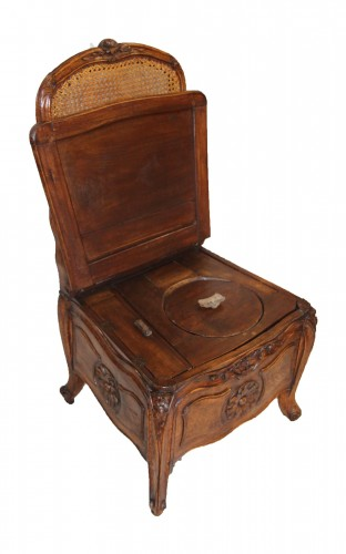 Commode Chair Stamped Etienne Meunier - Seating Style Louis XV
