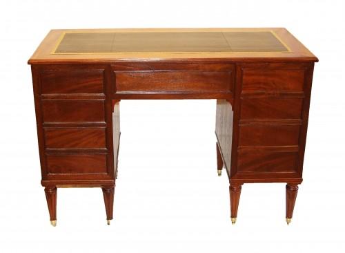 Furniture  - Louis XVI Period Coffered Desk, Stamped Cc Saunier