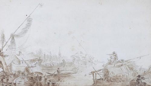 Vue des environs de Nevsky - Jean Balthazar de la Traverse Active in Russia  1779 - 1790