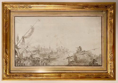 18th century - Vue des environs de Nevsky - Jean Balthazar de la Traverse Active in Russia  1779 - 1790