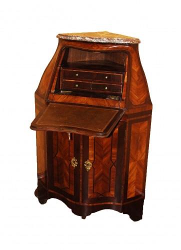 Secretary In Corner Louis XV Period - Furniture Style Louis XV