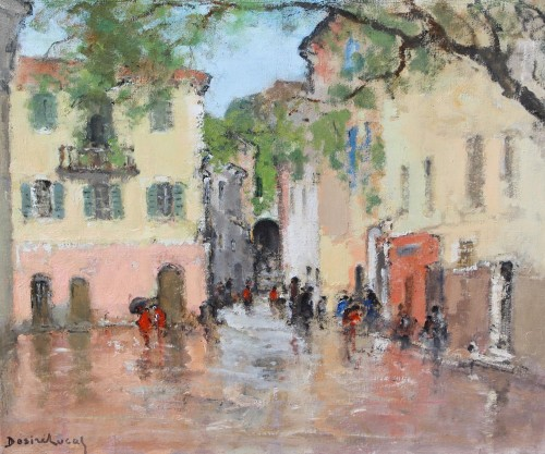 place in the rain  - Louis Marie Désiré-Lucas (1869-1949)