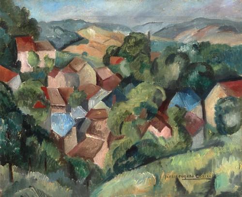 Pierre-Eugène CLAIRIN (1897-1980)  - Village in the valley