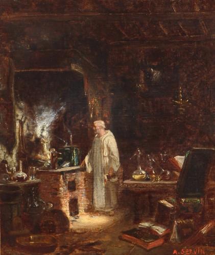 Amédée Elie SERVIN (1829-1884) - The Alchemist