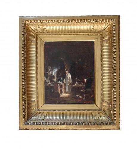 Amédée Elie SERVIN (1829-1884) - The Alchemist - Paintings & Drawings Style Napoléon III