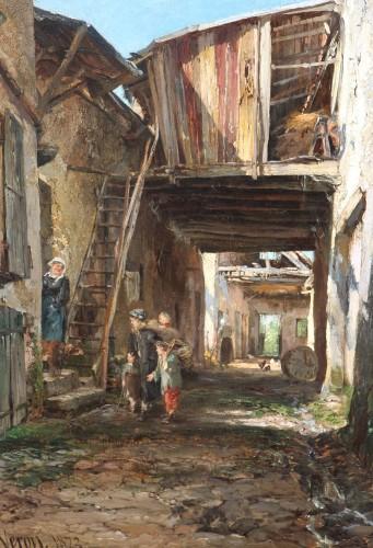 Alexandre Rene VERON (1826-1897)- Crécy-en-Brie - Paintings & Drawings Style