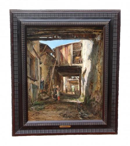 Paintings & Drawings  - Alexandre Rene VERON (1826-1897)- Crécy-en-Brie