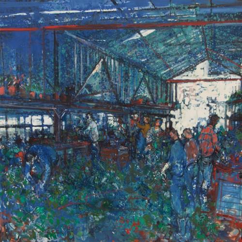 Jean Commère (1920-1986) - The Flower Market, 1969