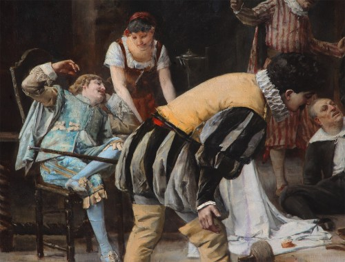 Paintings & Drawings  - Armand Eugène Bach (1850-1921) - The Comedians at the Castle of Misery