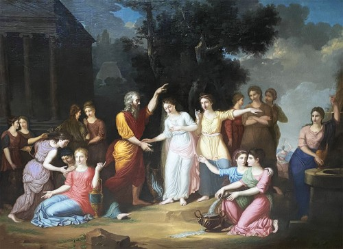 Eliezer and Rebecca - German or Austrian neoclassical school circa 1770