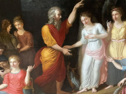 Paintings & Drawings  - Eliezer and Rebecca - German or Austrian neoclassical school circa 1770