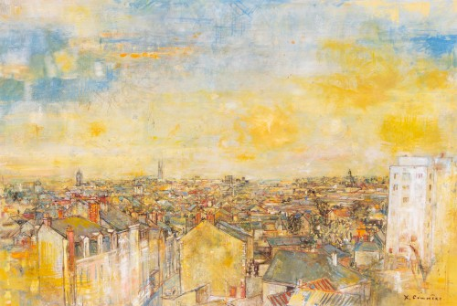Jean Commère (1920-1986) - The roofs of Angers