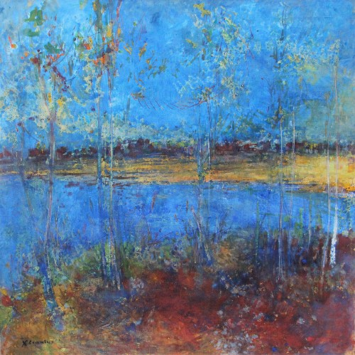 Jean Commère (1920-1986) - Blue pond