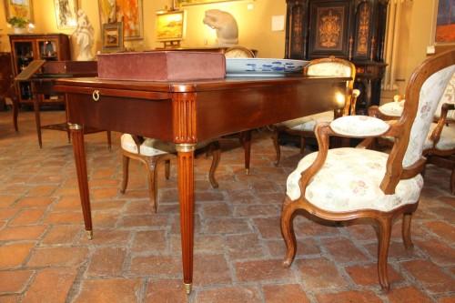 Louis XVI period desk in mahogany, -