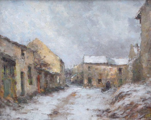 Village under the snow - Jean Eugène Julien Massé (1856-1950)