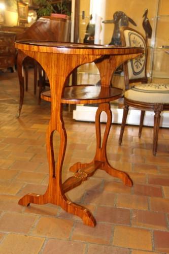 Double table top in rosewood veneer, - Furniture Style Louis XVI