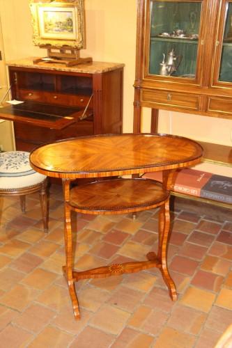 Furniture  - Double table top in rosewood veneer,